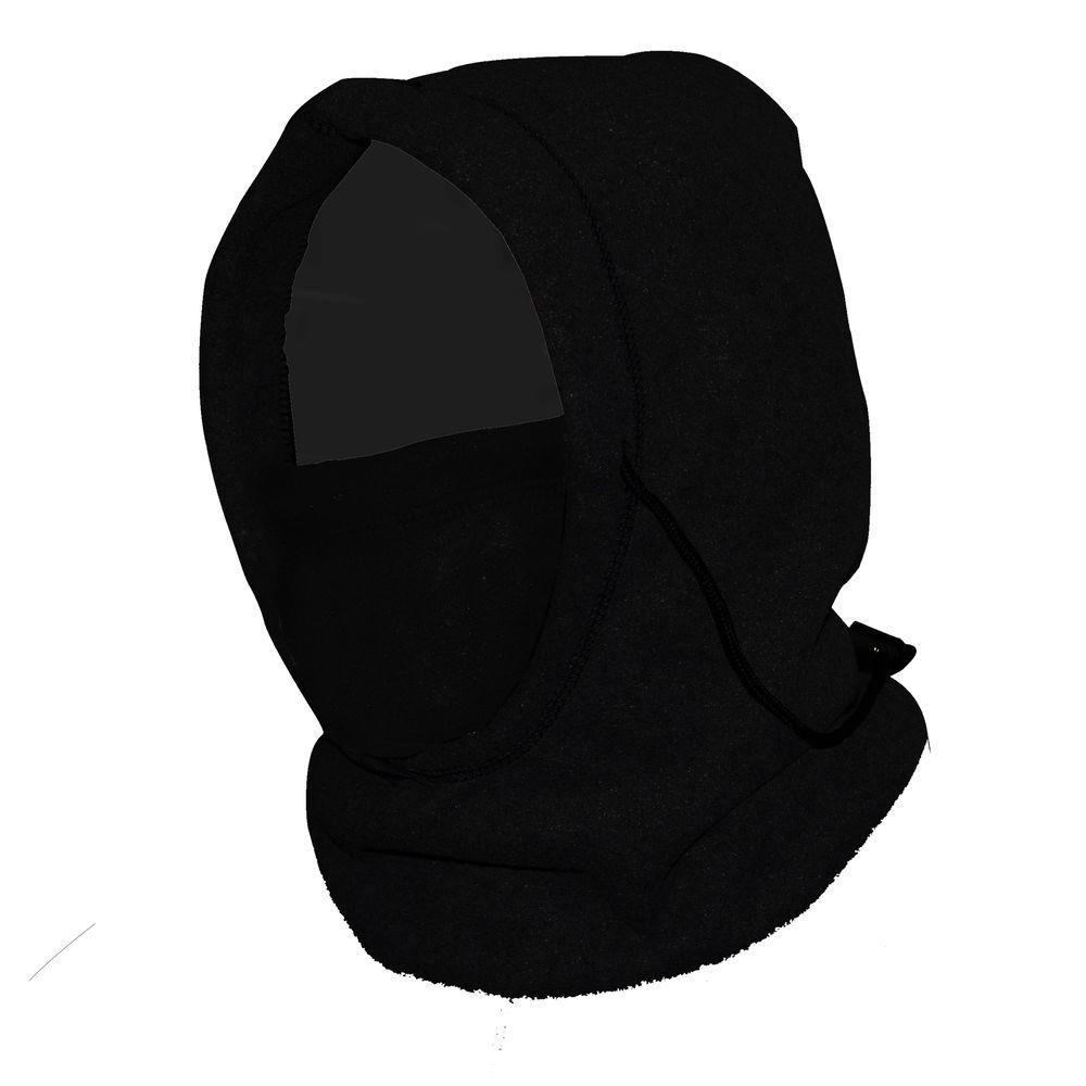 6-in-1 Fleece Hood - Black