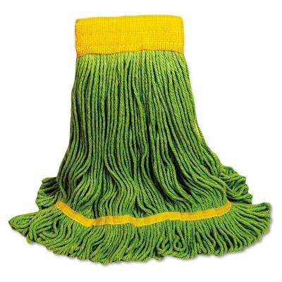 EcoMop Medium Size Recycled Fibers Looped-End Mop Head in Green (12-Carton)