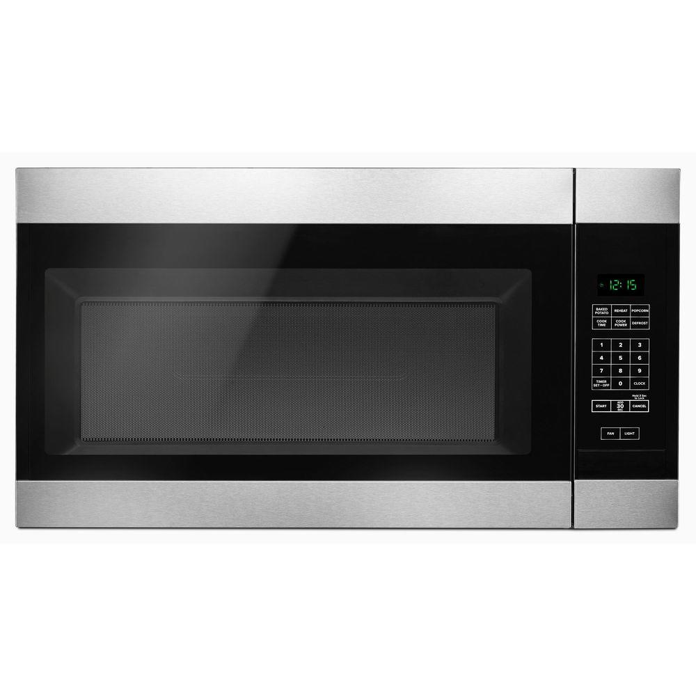 Amana 1 6 Cu Ft Over The Range Microwave In Stainless Steel Amv2307pfs