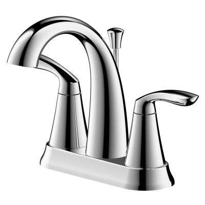 Arts et Metiers 4 in. Centerset 2-Handle Bathroom Faucet with Drain in Chrome