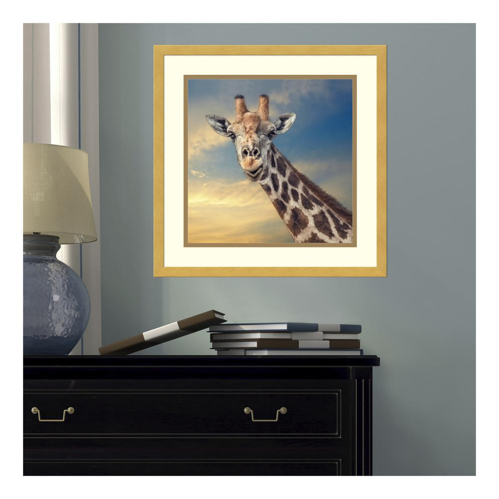 17 in. W x 17 in. H 'The Friendly Giant' by Piet Flour Printed Framed Wall Art