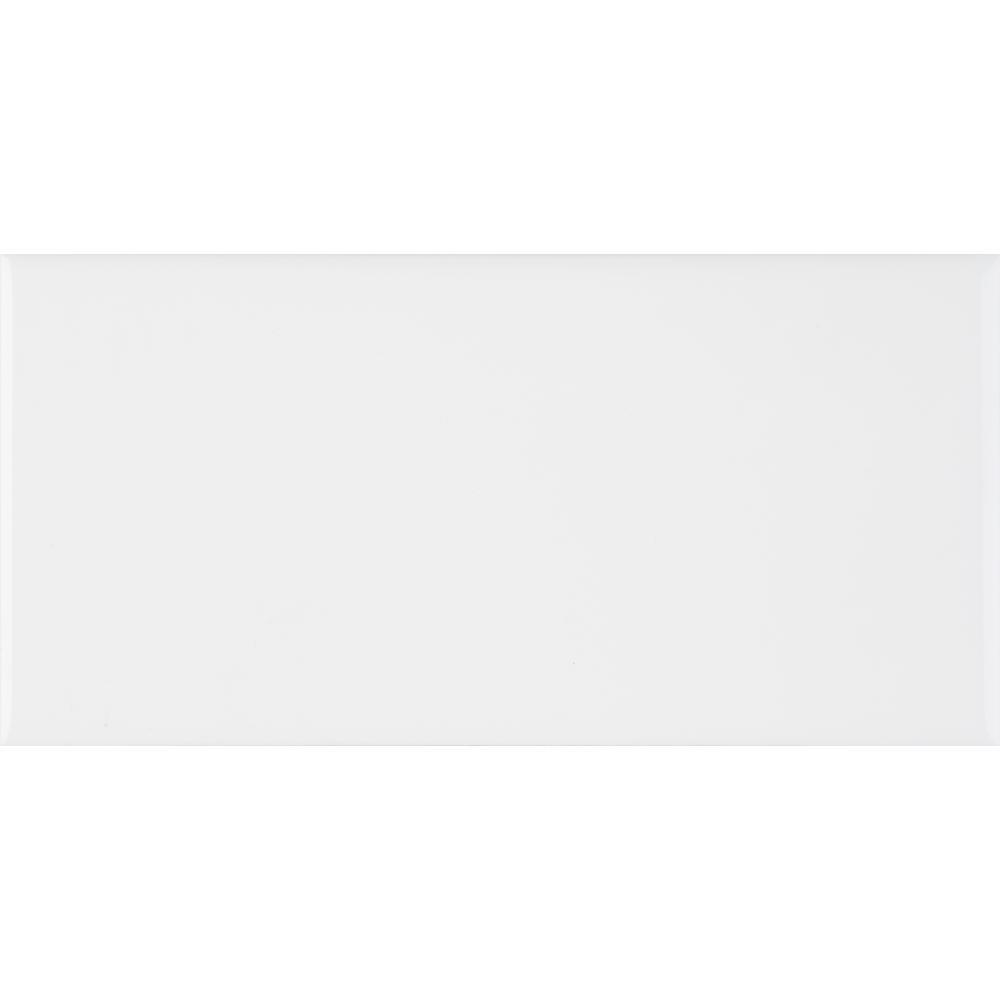 MSI White Glossy 3 in. x 6 in. Glazed Ceramic Wall Tile (10.75 sq. ft./case)