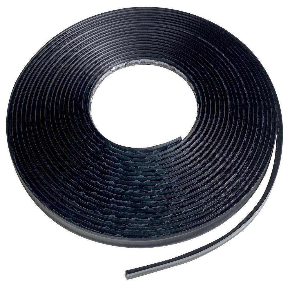 3/4 in. x 1/2 in. x 600 in. PVC Inside Corner Self-adhesive Flexible Trim Moulding