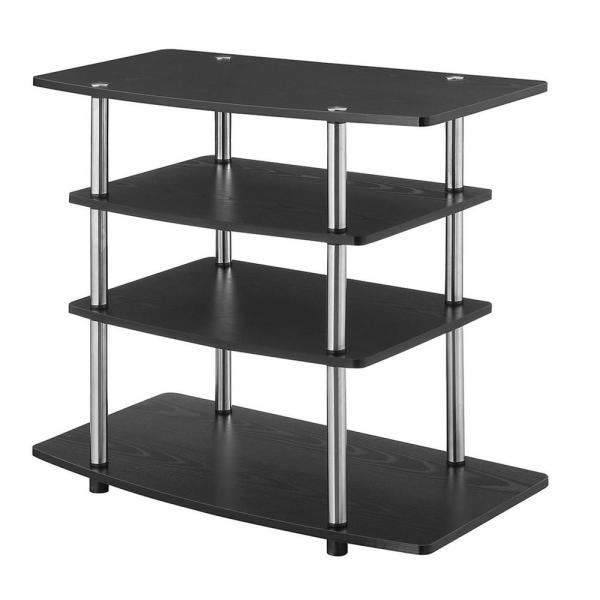 Designs2Go 31.5 in. Black Particle Board TV Stand Fits TVs Up to 32 in. with Cable Management