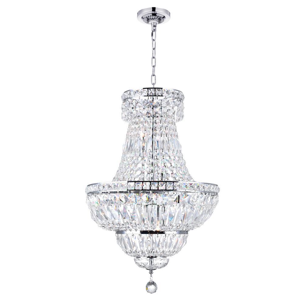 Stefania 8-light chrome chandelier