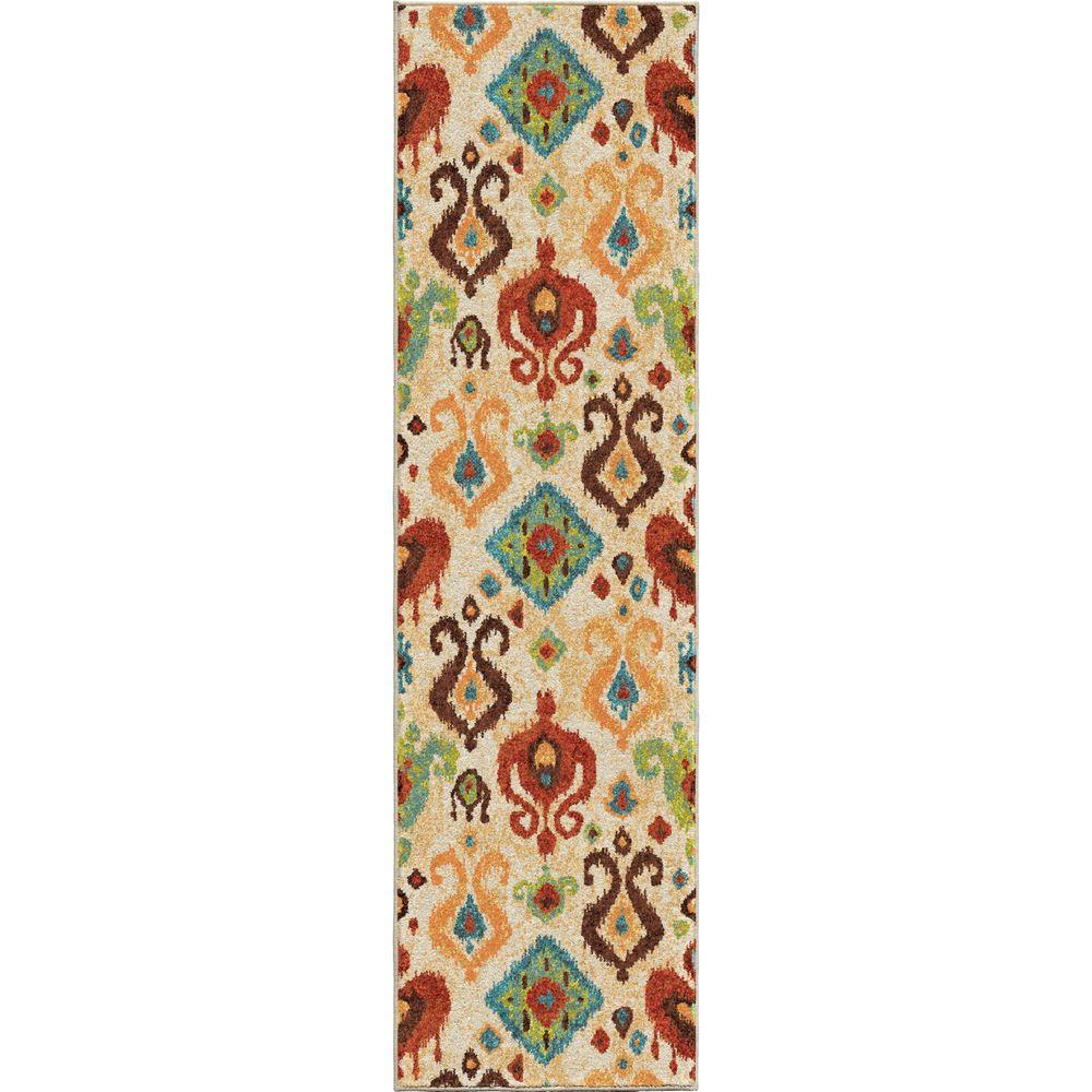 Orian Rugs Ancient Multi Southwestern Bright Colors 2 Ft X 8 Indoor Runner