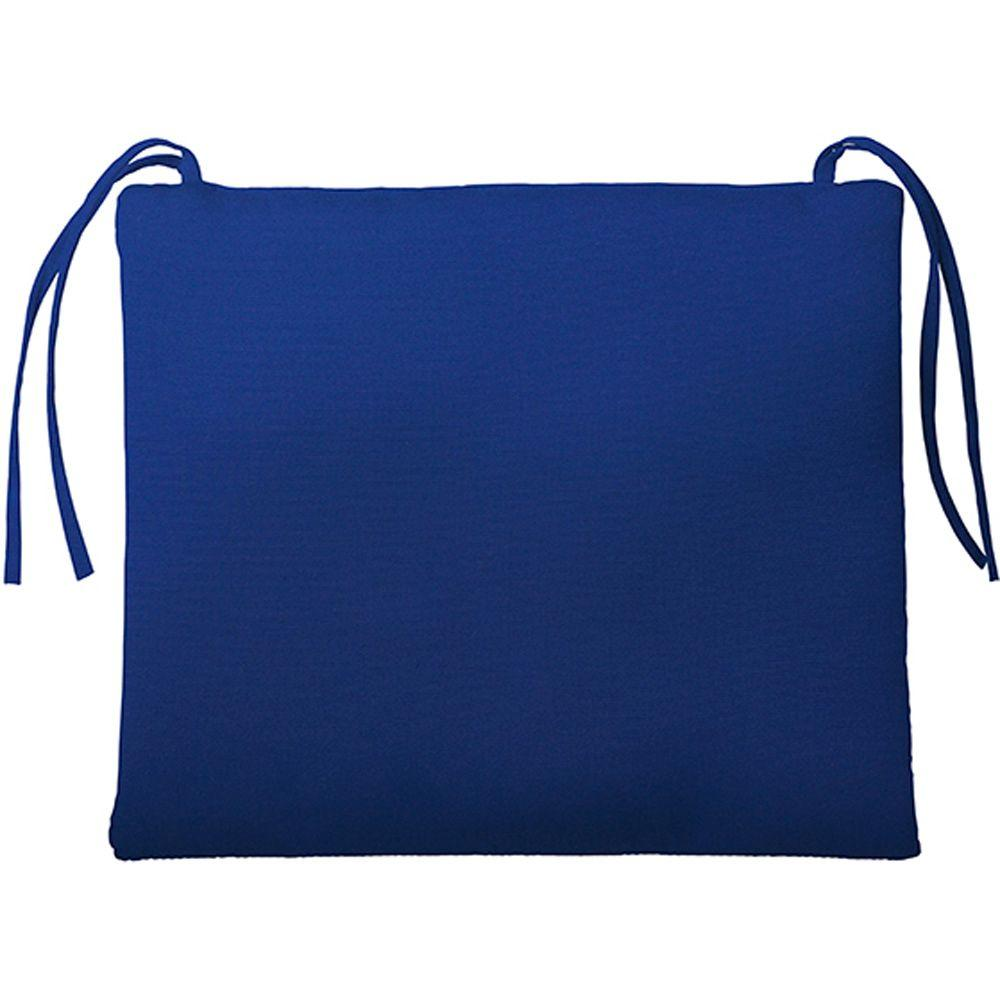 Home Decorators Collection Sunbrella Blue Rectangular Outdoor Seat Cushion