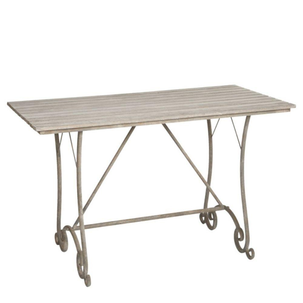 Filament Design Sundry Wood Rectangular Table in Distressed Whitewashed-DISCONTINUED
