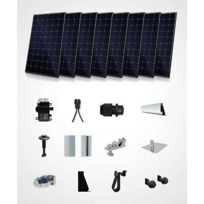 2400-Watt On Grid Recommended Kit- Mono Roof Mount System