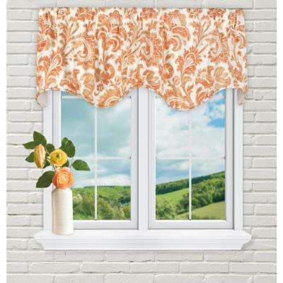 Boxtree 16 in. L Cotton Lined Scallop Valance in Orange