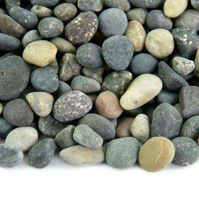 20 lbs. of Mixed 3/8 in. Mexican Beach Pebbles