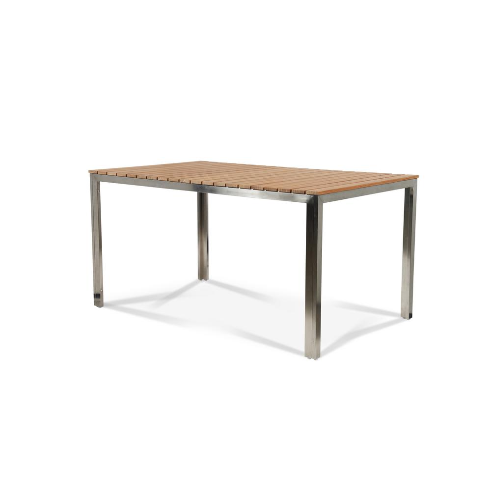 AL Fresco Rectangular Teak Outdoor Dining Table