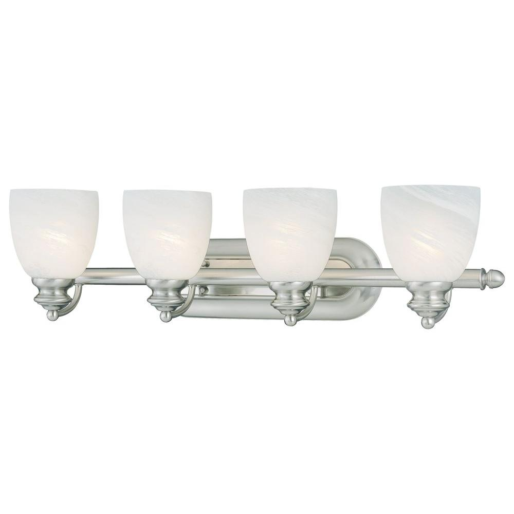 Thomas Lighting Tranquility 4-Light Brushed Nickel Wall Vanity-DISCONTINUED