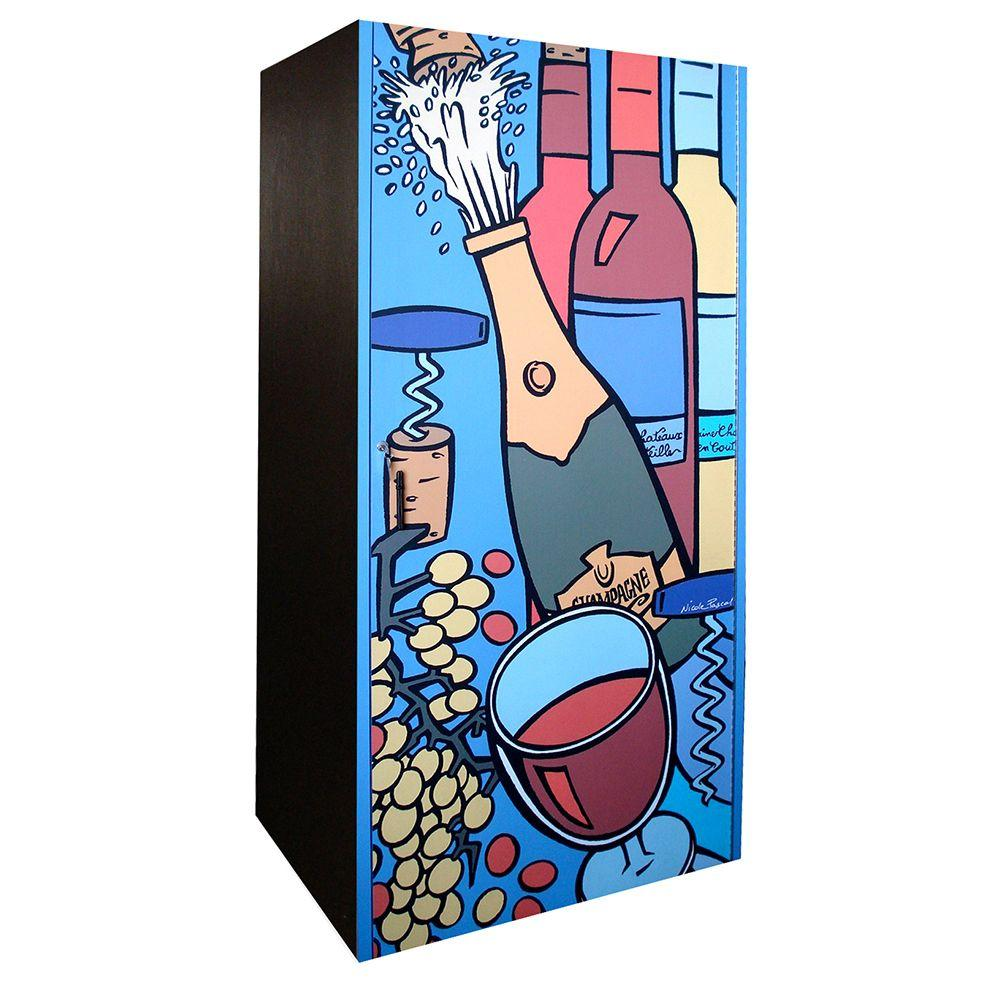 Vinotemp 280-Bottle Wine Cabinet with Artist Rendered Door
