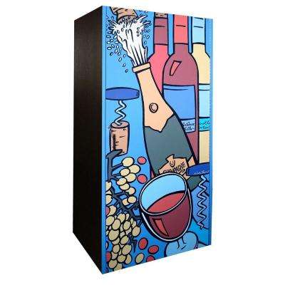 280-Bottle Wine Cabinet with Artist Rendered Door