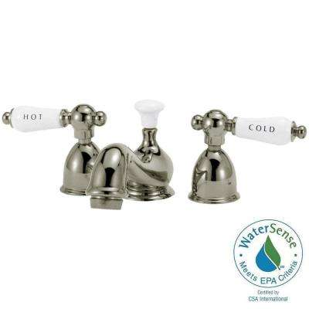 Bradsford 4 in. Minispread 2-Handle Mid Arc Bathroom Faucet in Satin Nickel