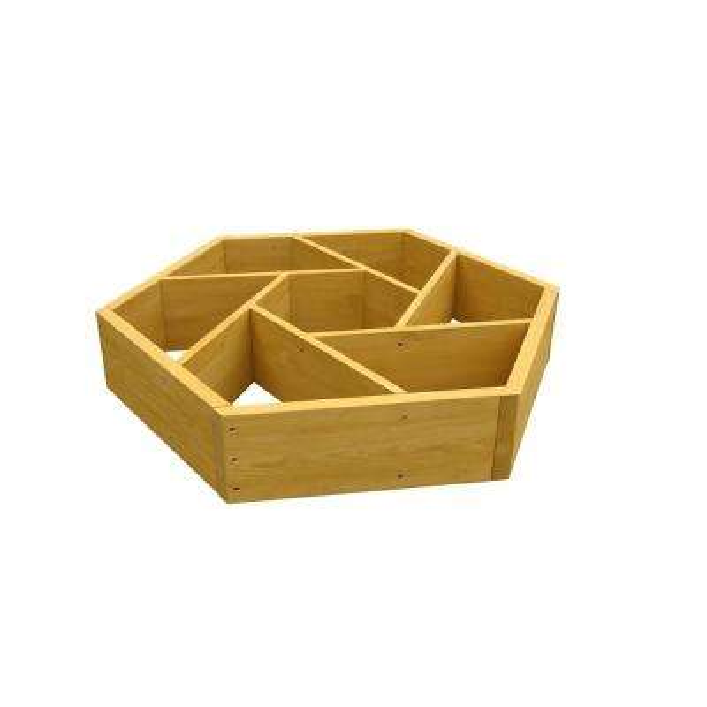 Wooden Wheel Garden Bed