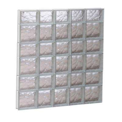 32.75 in. x 40.5 in. x 3.125 in. Wave Pattern Non-Vented Glass Block Window