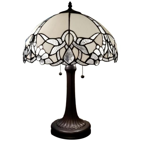 23 in. Tiffany Style Jeweled Table Lamp