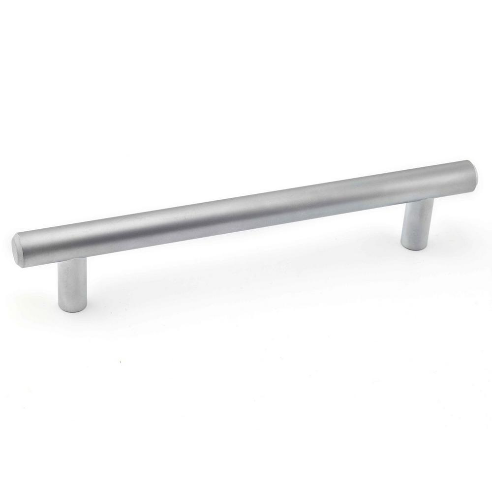 Richelieu Hardware Contemporary 5 1/32 In. (128 Mm) Matte Chrome Cabinet  Pull BP205128174   The Home Depot