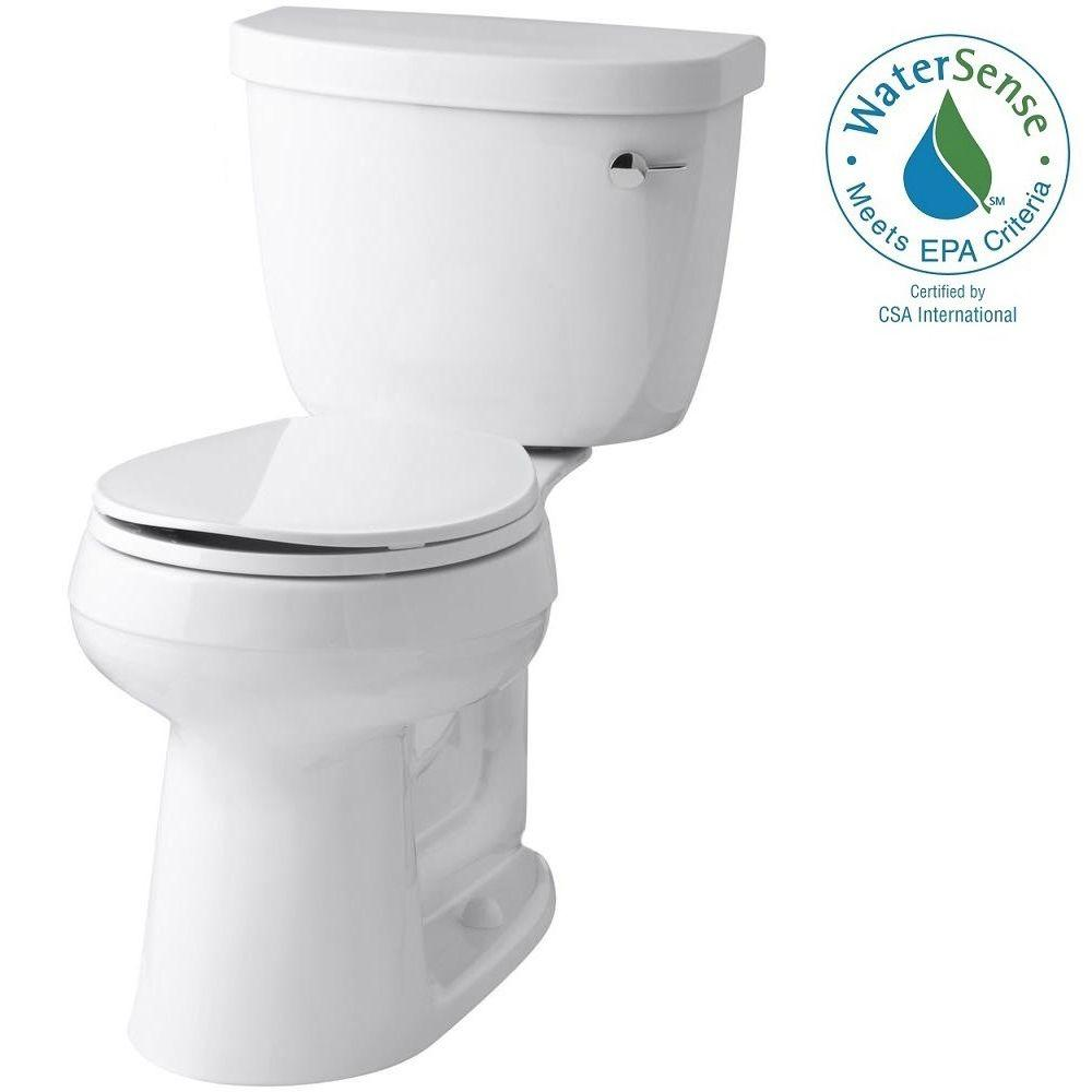 KOHLER Cimarron Comfort Height 2-piece 1.28 GPF Round Toilet with AquaPiston Flush Technology in White