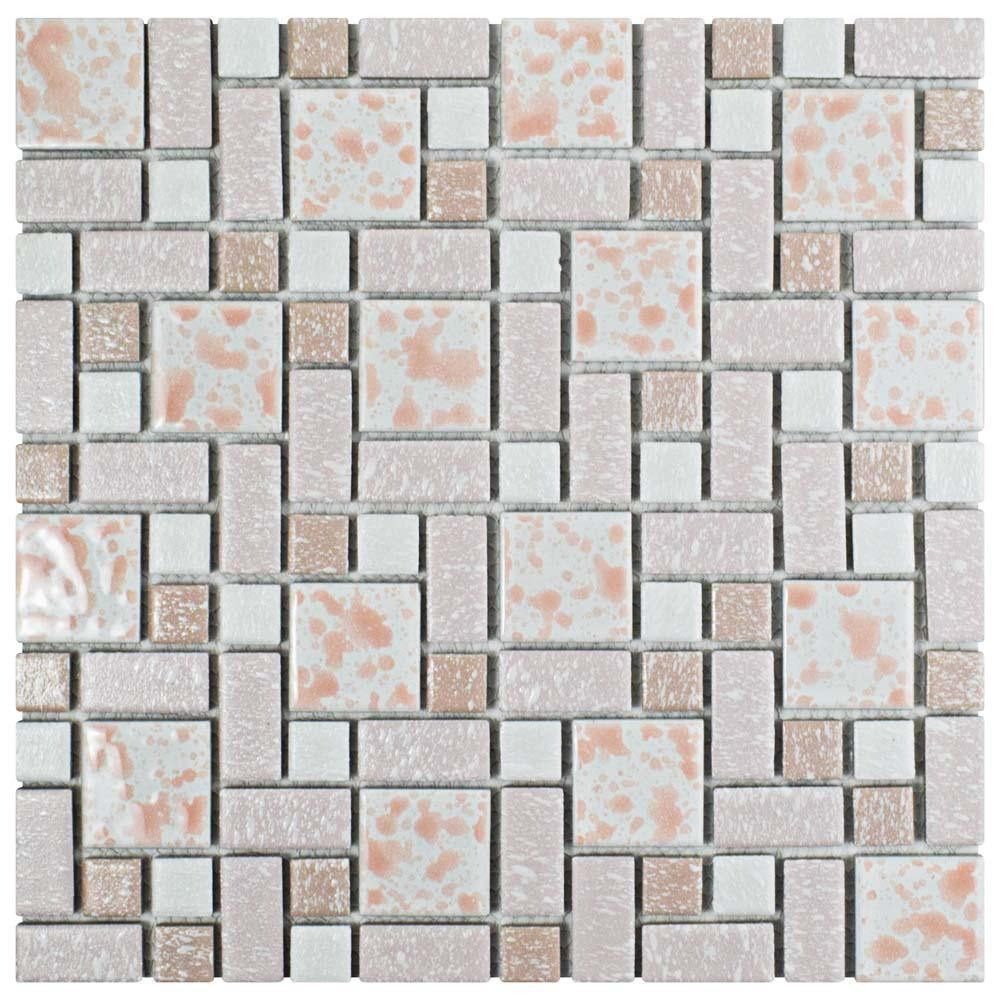 Merola Tile University Pink 11-3/4 in. x 11-3/4 in. x 5 mm Porcelain ...