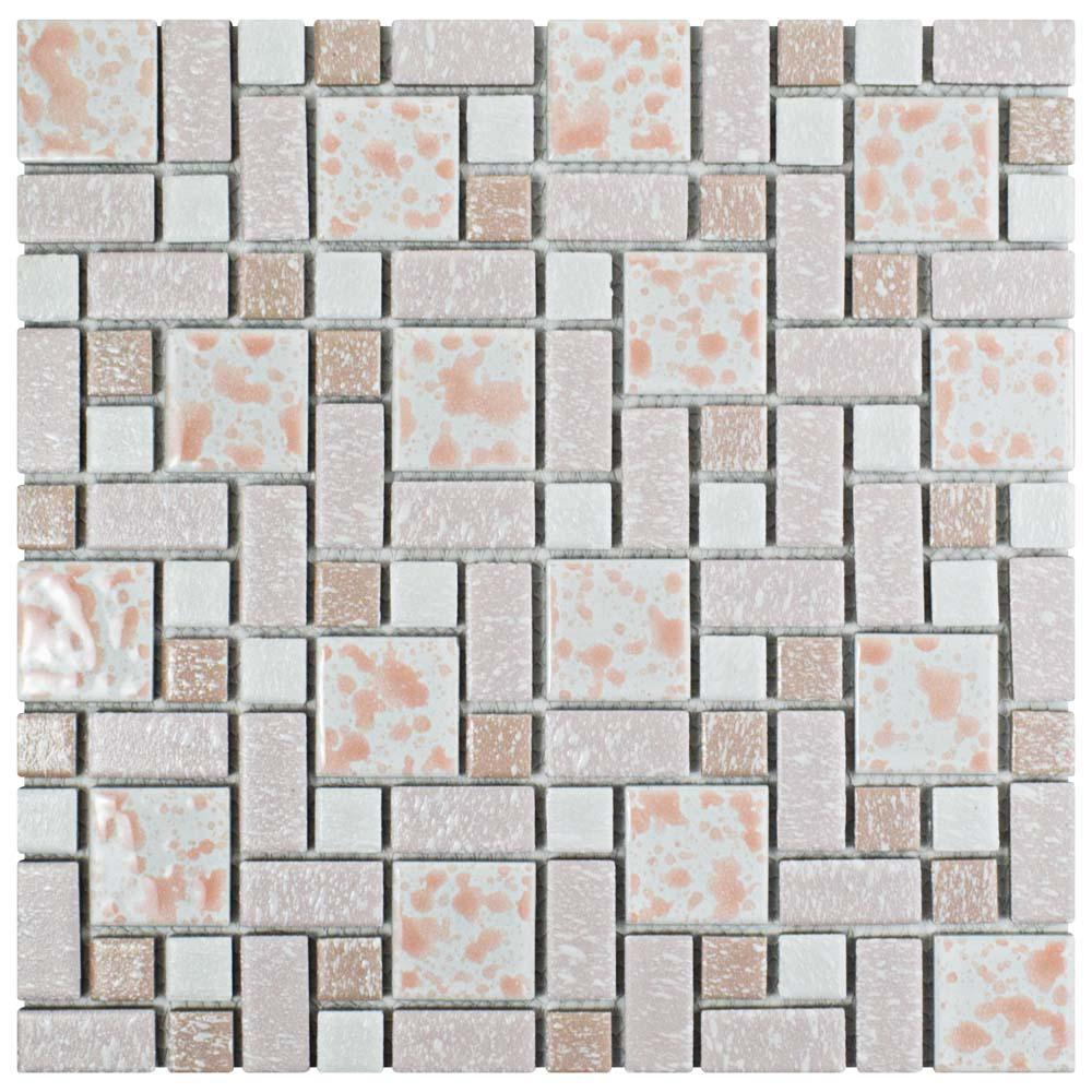 Merola Tile University Pink 11-3/4 in. x 11-3/4 in. x 5 mm ...