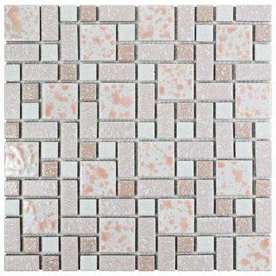 University Pink 11-3/4 in. x 11-3/4 in. x 5 mm Porcelain Mosaic Tile (9.62 sq. ft. / case)