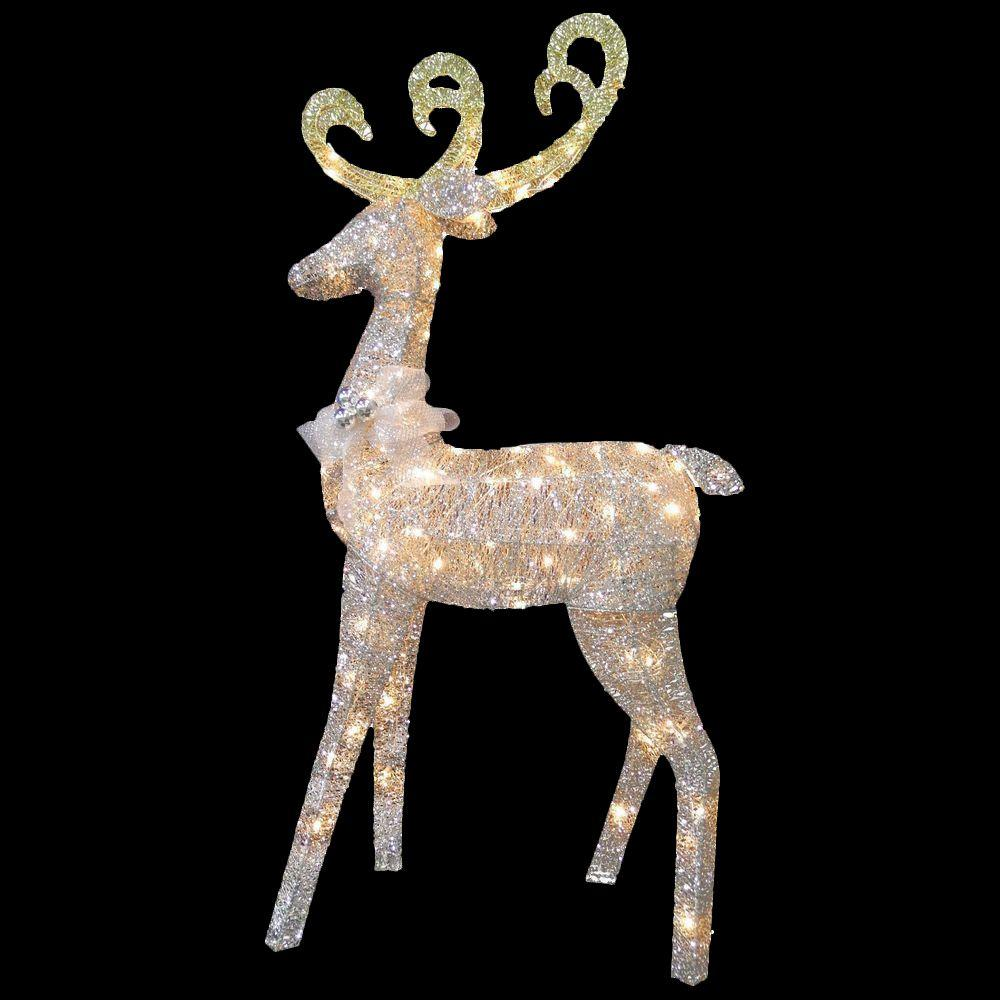reindeer decoration with clear lights - Christmas Reindeer Decorations