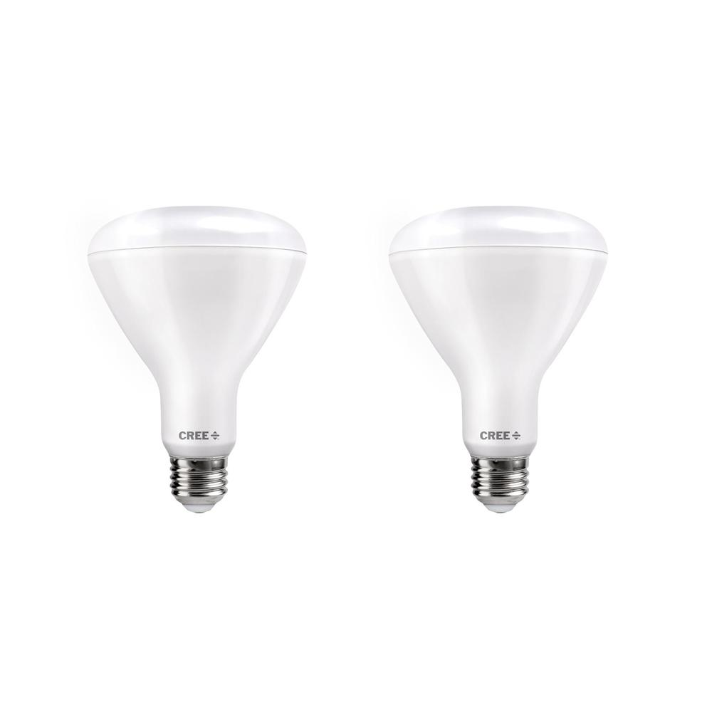 Cree 65W Equivalent Soft White (2700K) BR30 Dimmable Exceptional Light Quality LED Light Bulb (2-Pack)