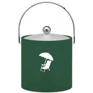 Click here to buy Kraftware Kasualware Beach Chair 3 Qt. Ice Bucket in Green by Kraftware.