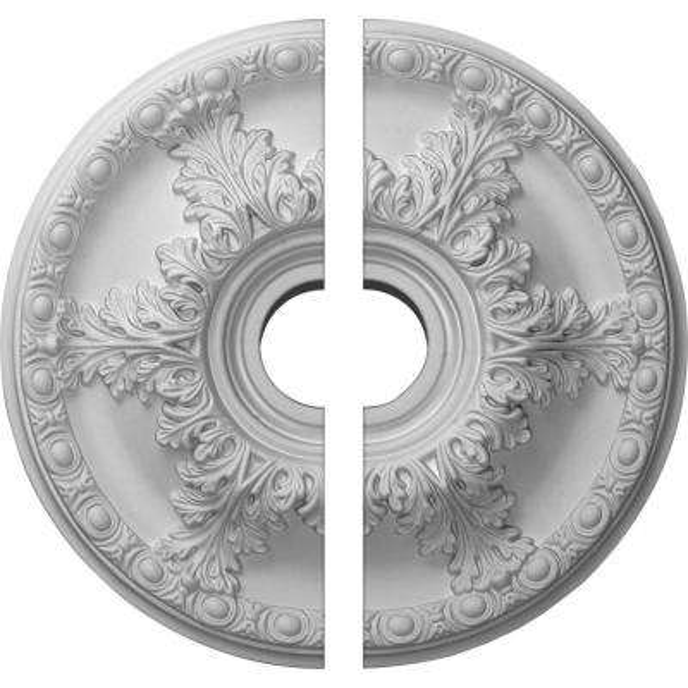 19 in. O.D. x 3-1/2 in. I.D. x 1-1/2 in. P Granada Ceiling Medallion (2-Piece)