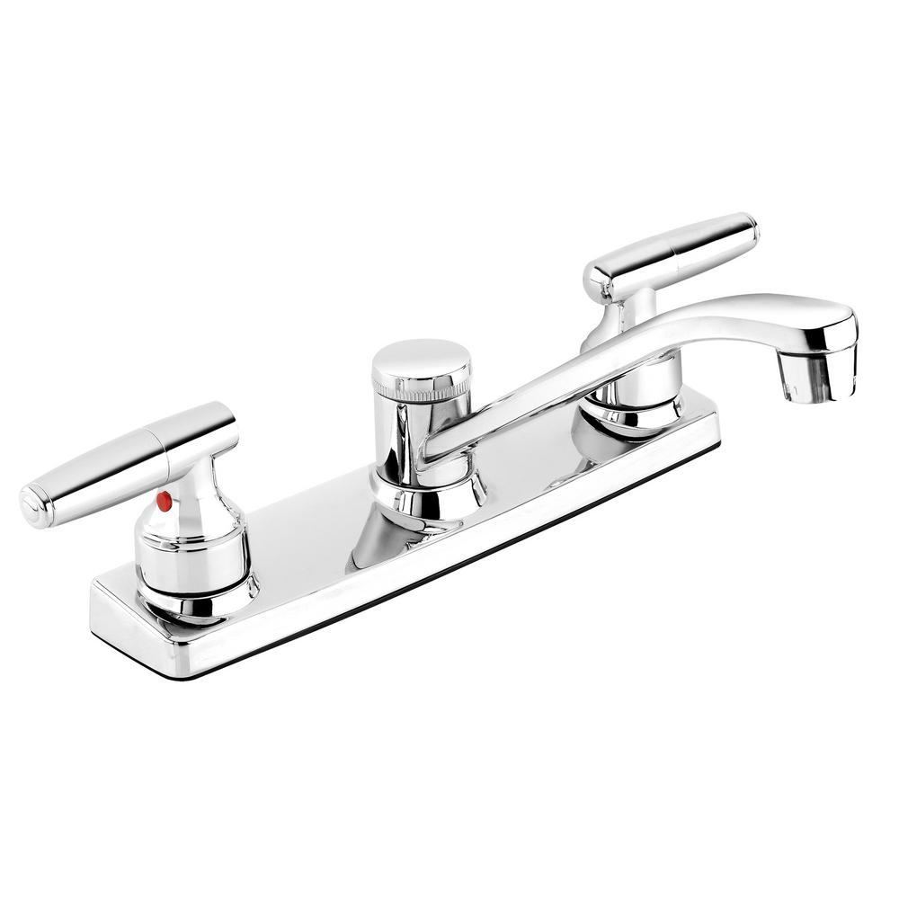 Belanger 2-Handle Standard Kitchen Faucet in Polished Chrome