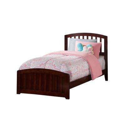 Richmond Walnut Twin Traditional Bed with Matching Foot Board