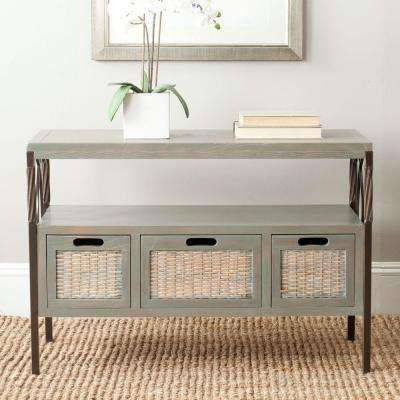Joshua Ash Grey Storage Console Table