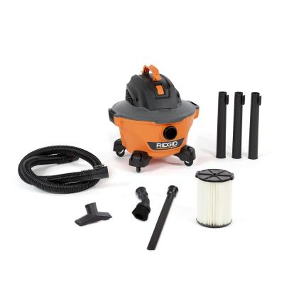 6 Gal. 3.5-Peak HP NXT Wet/Dry Shop Vacuum with Filter, Hose, Wands, Utility Nozzle, Crevice Tool and Dusting Brush