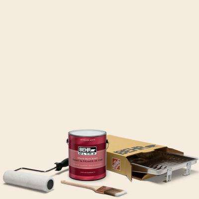 1 gal. #RD-W15 Cotton Sheets Ultra Matte Interior Paint and 5-Piece Wooster Set All-in-One Project Kit