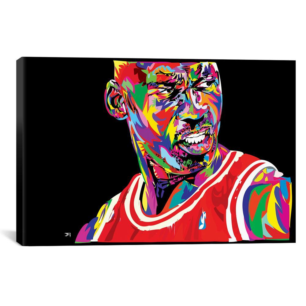 """Jordan Portrait"" by TECHNODROME1 Canvas Wall Art"