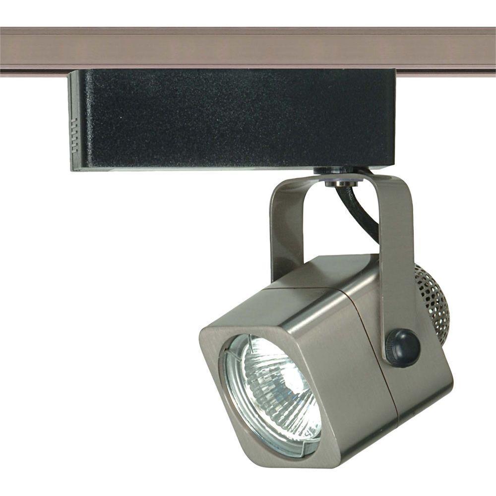 1-Light MR16 12-Volt Brushed Nickel Square Track Lighting Head