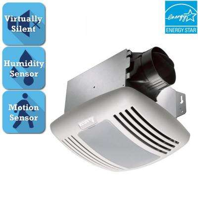 GreenBuilder Series 80 CFM Ceiling Bathroom Exhaust Fan with Light, Humidity, Motion Sensor and Adjustable Speed Control