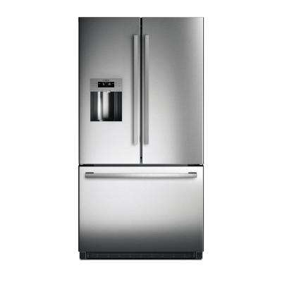 800 Series 36 in. 25 cu. ft. French Door Refrigerator in Stainless Steel, Standard Depth
