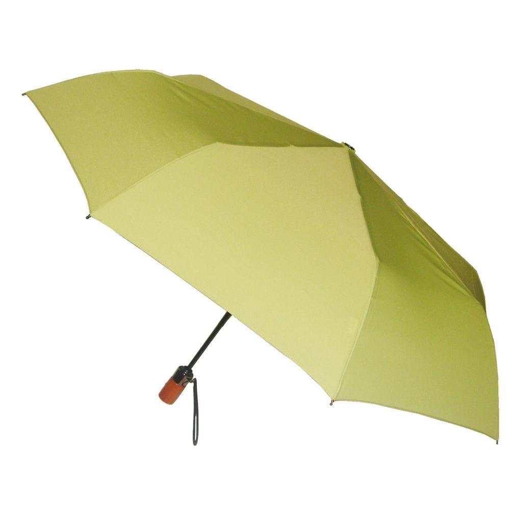 44 in. Arc Canopy 3 Sectional Telescopic Mini Auto Open Auto Close Umbrella in Leaf
