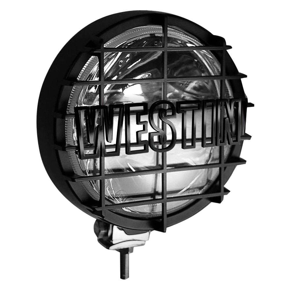 Premier 6 in Quartz-Halogen Off-Road Lights w/Grid Black (1 Light Only) - Black