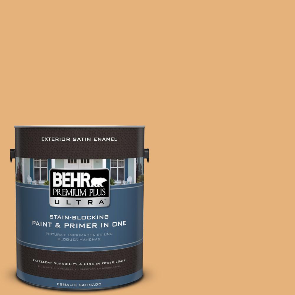 BEHR Premium Plus Ultra 1-gal. #300D-4 High Plateau Satin Enamel Exterior Paint