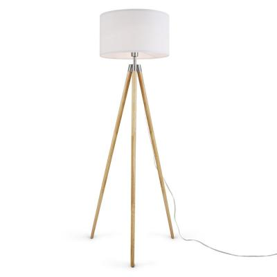 Celeste 61.5 in. White/Natural Tripod Floor Lamp