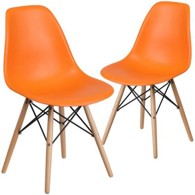 Orange Plastic Party Chairs (Set of 2)