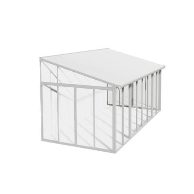 SanRemo 18 ft. x 10 ft. White/White Patio Enclosure