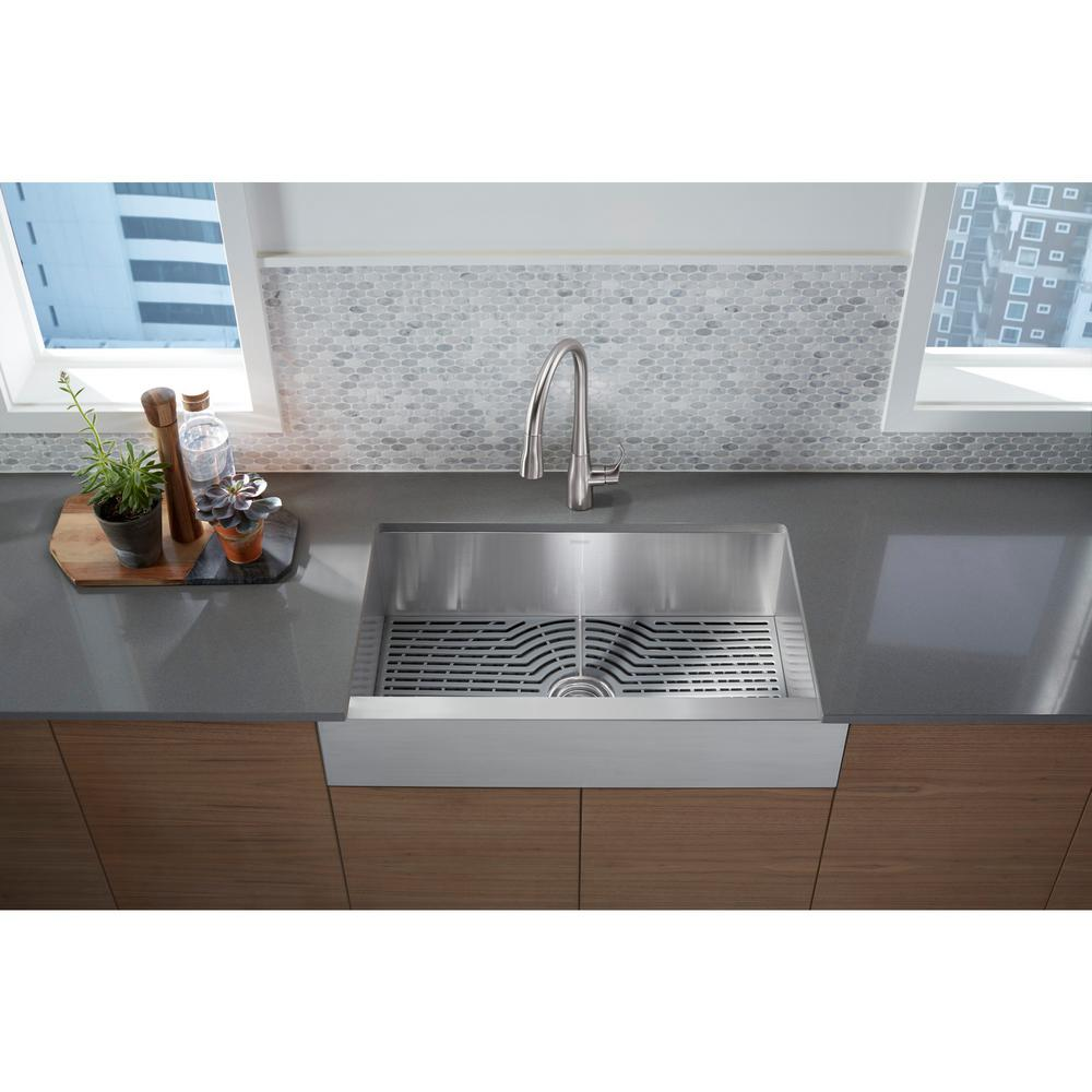 stainless steel apron front kitchen sinks sterling ludington apron front stainless steel 32 in 9384