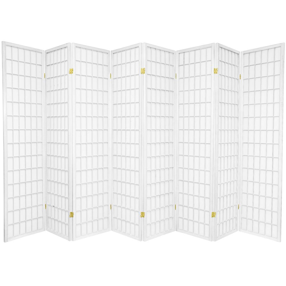 6 ft White 8 Panel Room Divider SSCWP 8P WHT The Home Depot