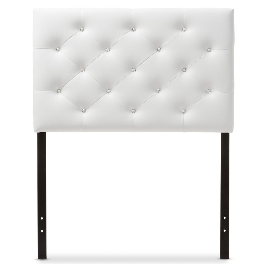 Baxton Studio Viviana White Twin Headboard 28862 6973 Hd
